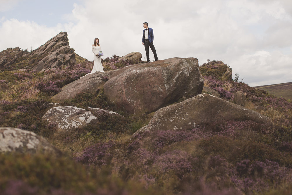 Pre wedding photography in the Peak District National Park UK