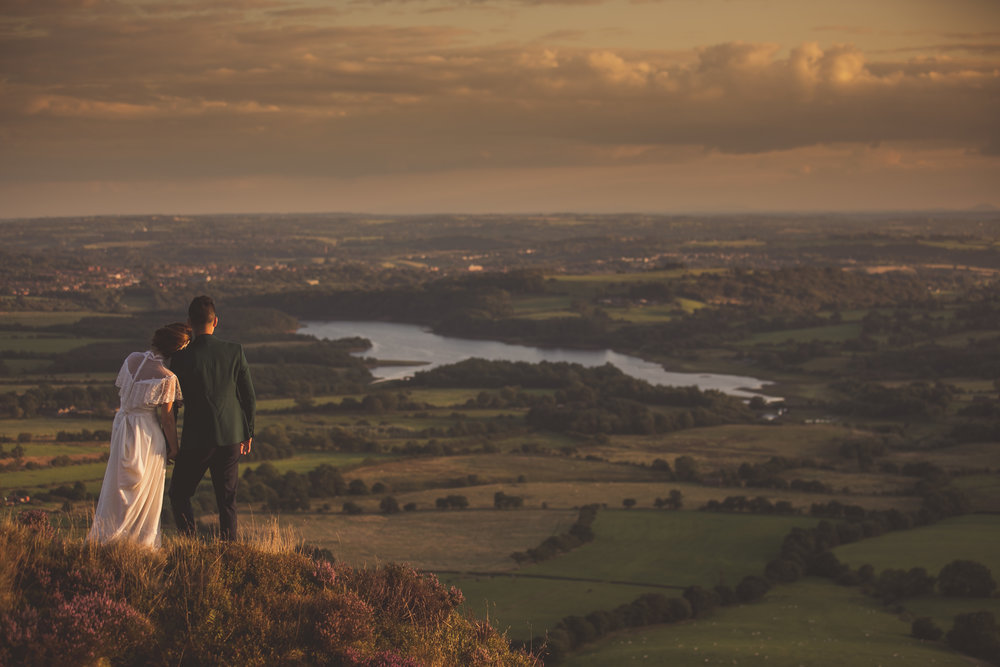 Peak District pre wedding photography shoot
