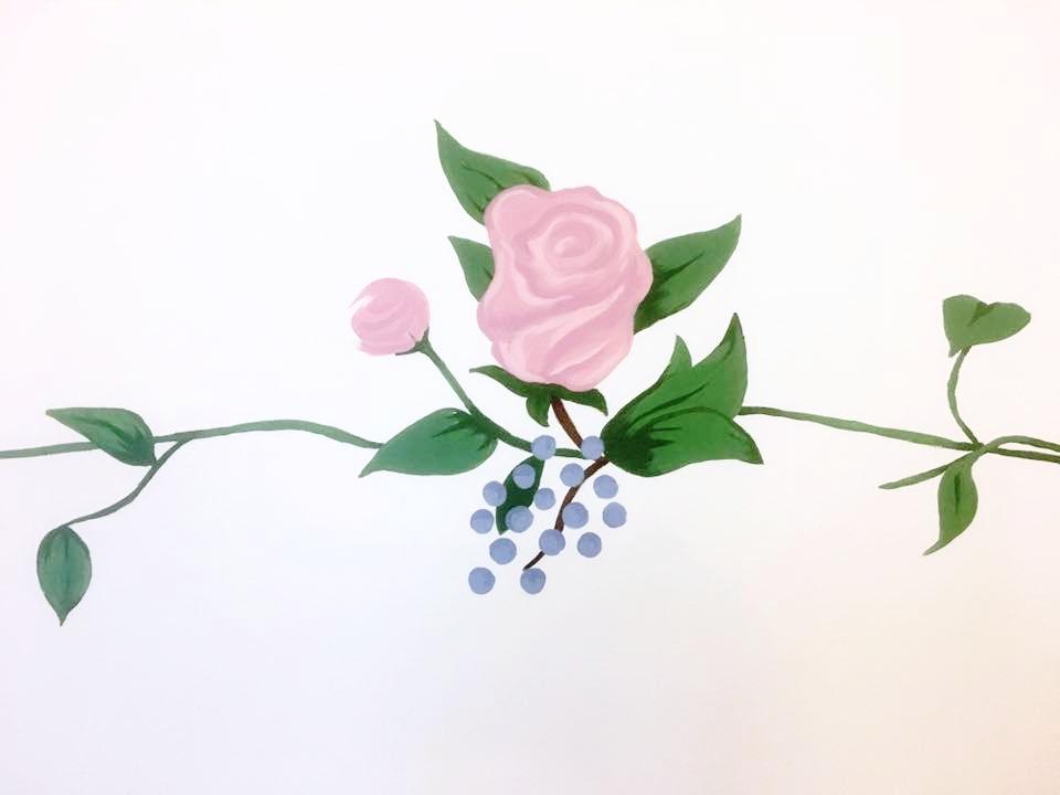 Rose motif- Baby Room 2016