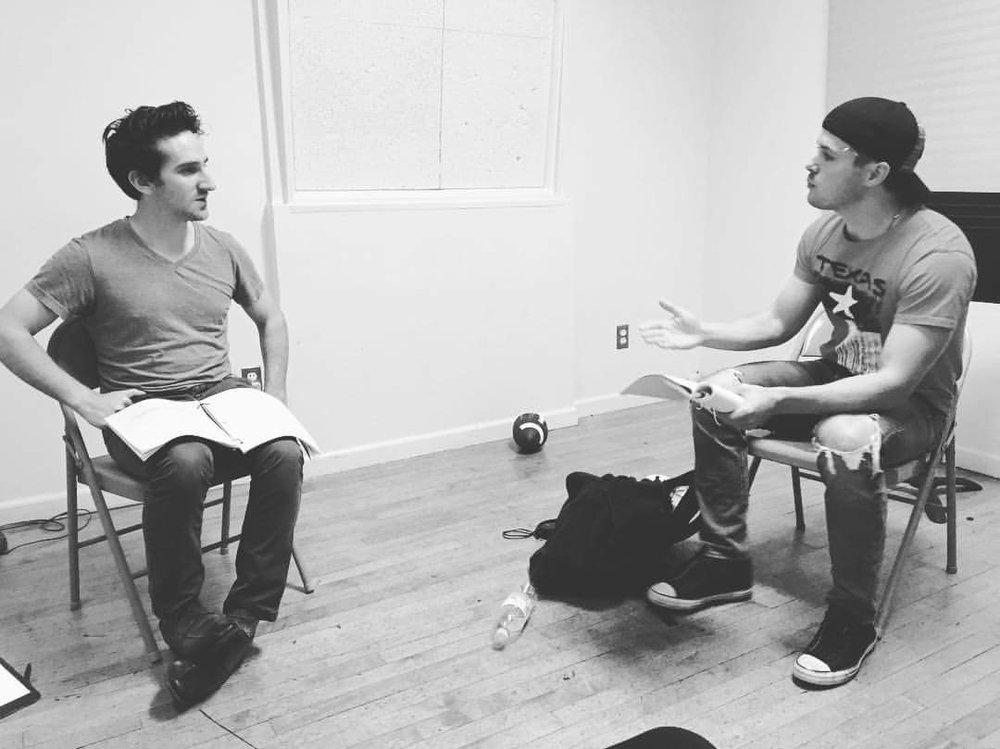 Actors Peter Ferraiolo and Josh Trant