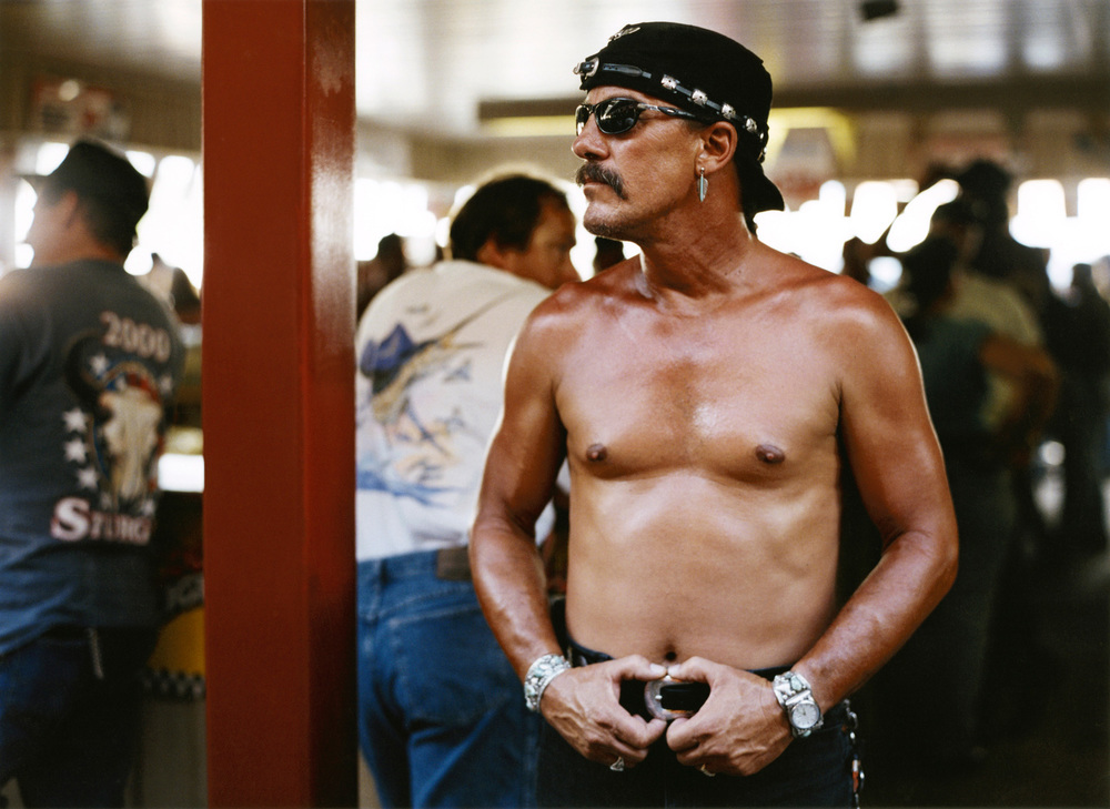 Red and Standing, Sturgis, 2001