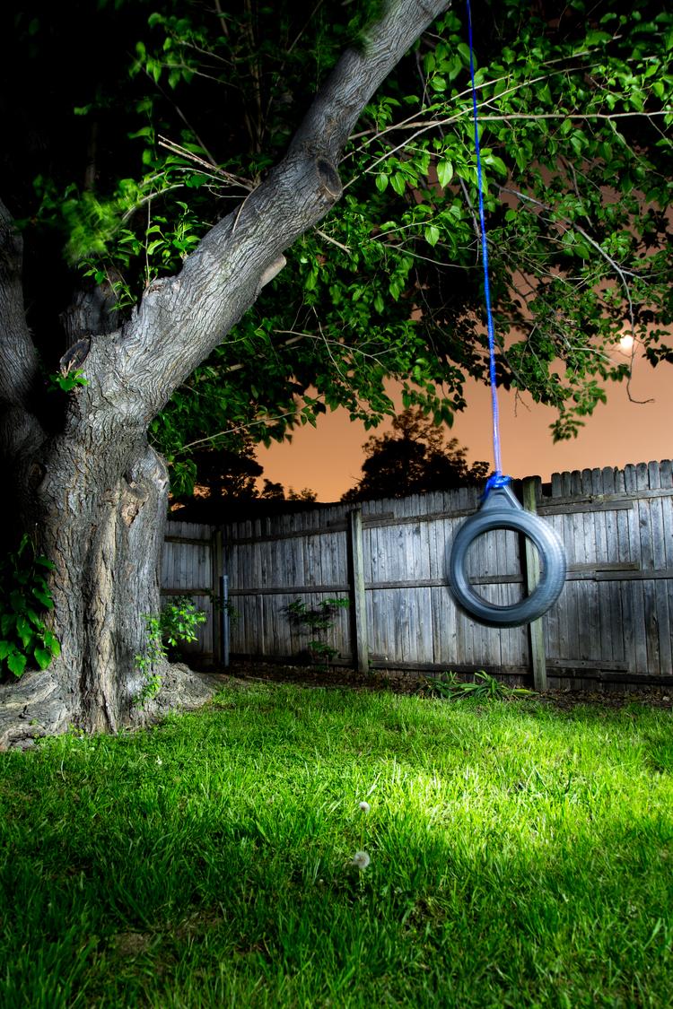 backyard light painting