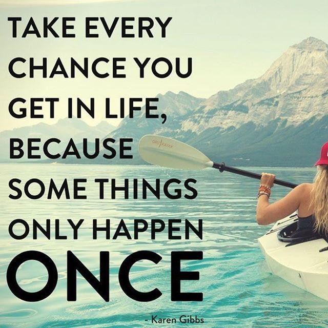Take chances🌊🌅🌈 #chances #takechances #once #life #adventure #adventuretime #lifetime#lifebracelet #lifebracelets #likeforlike #share #mountains #fresh #kayaking #health #fitness