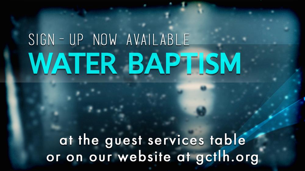 water baptism generations church