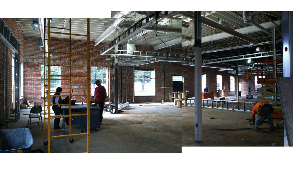 Interior under construction