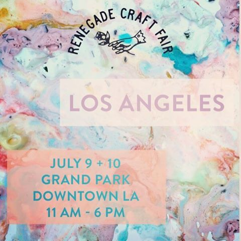 Renegade - Grand Park- DTLA Booth #130 stop by and say hello, we'll be there all weekend  11-6pm 😍 #renegadecraftfair #timeoutla