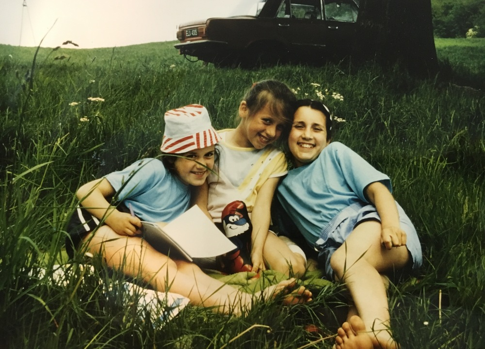 Karli, Malgosia and me hanging out by the lake