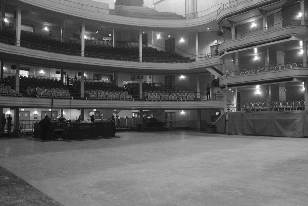 An empty Hammerstein Ballroom before the doors opened. It was a sold out show. I can't even imagine the emotions of playing in front of so many people!