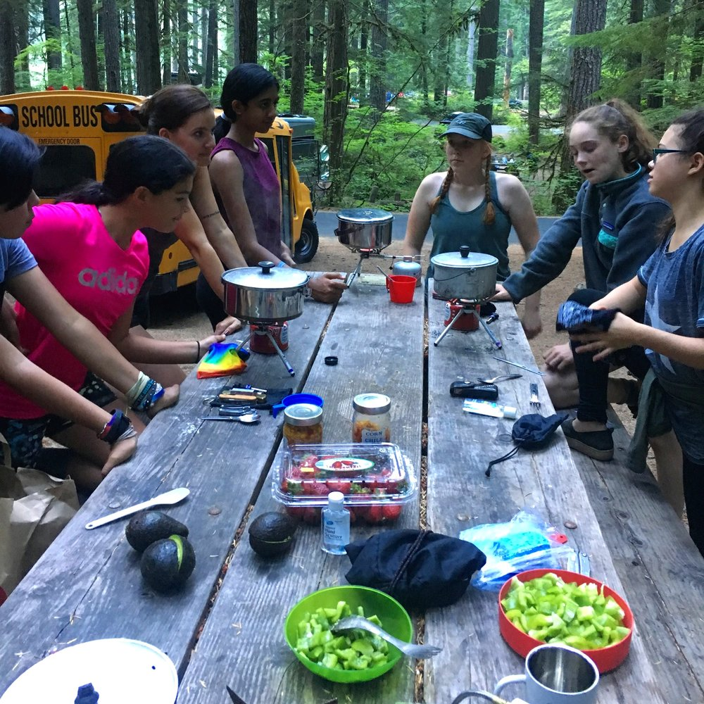 Lake Washington Girls Middle School Backpacking