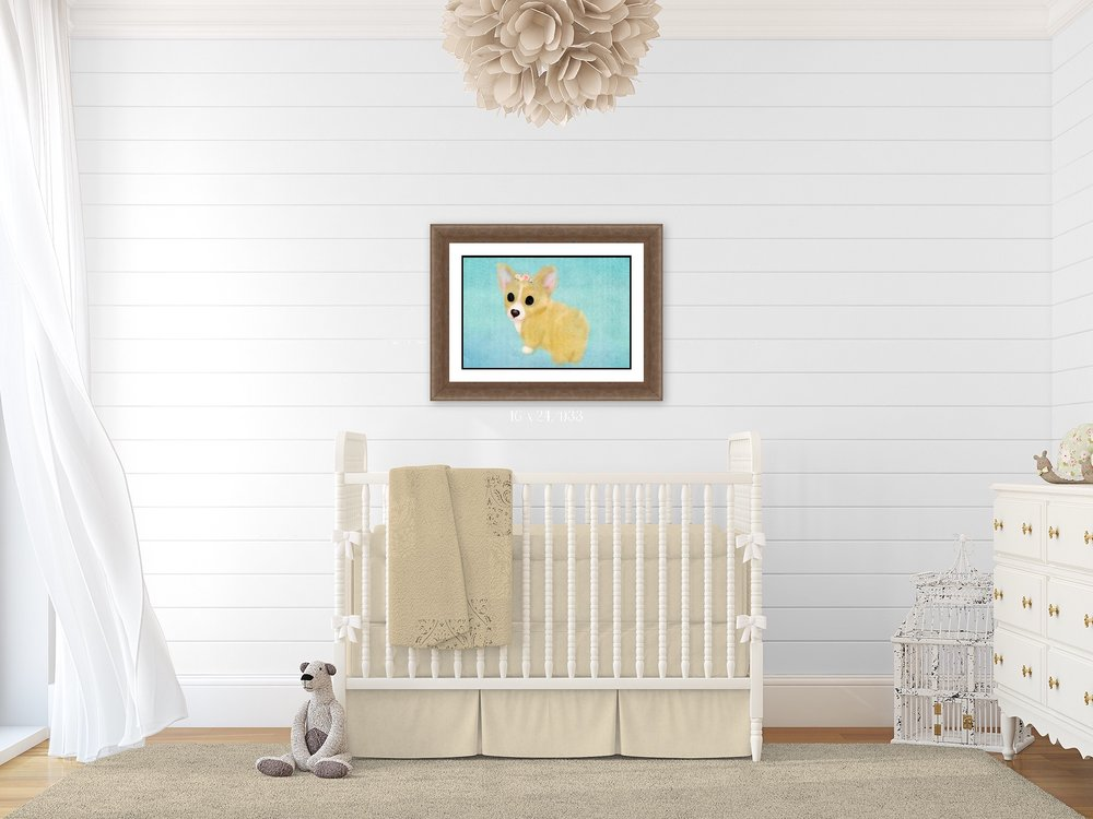 Buy Corgi Nursery Wall Art