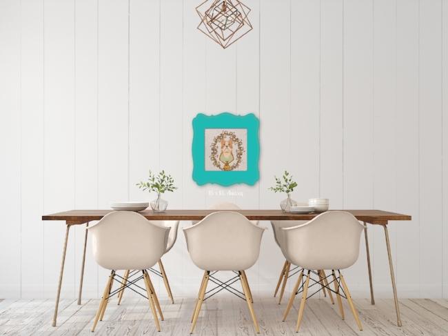 Sgt. Stubby Blue Frame Dining Room Wall Art