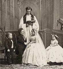 The Fairy Wedding Lavinia Warren and Charles Stratton (Tom Thumb)