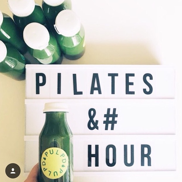 <b>Pilates & Nourish Event with </b><br>@feed_me_healthy & Pulp'd Juices</b> <br><i>April 2016</i>