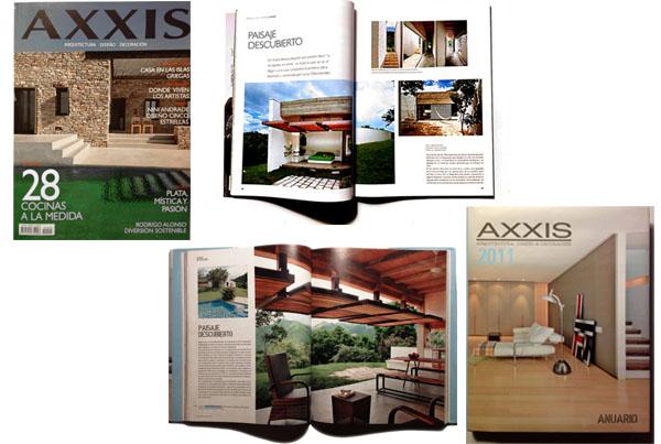 Casa Andrade en Revista Axis y Anuario Axis   2010