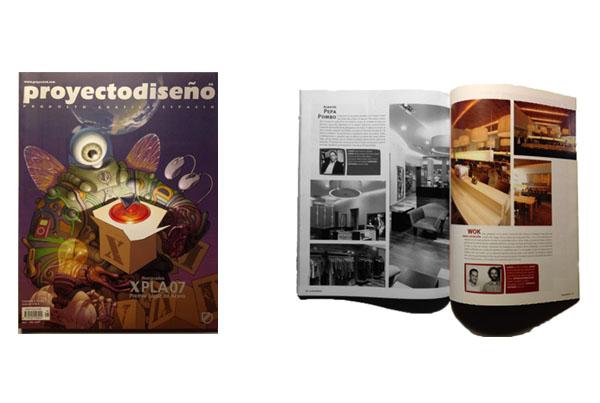 Restaurante Wok Gran Estación en la revista ProyectoDiseño   2007