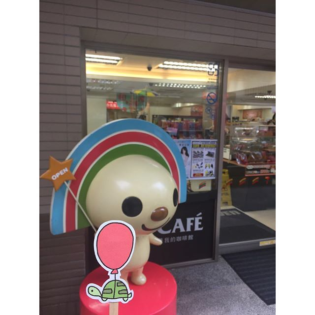 7-11 mascot! 7-11 吉祥物! #oaklets #littleoakletstraveltheworld