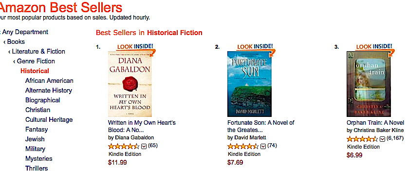 Fortunate Son #2 Best Seller of all Amazon's Historical Fiction