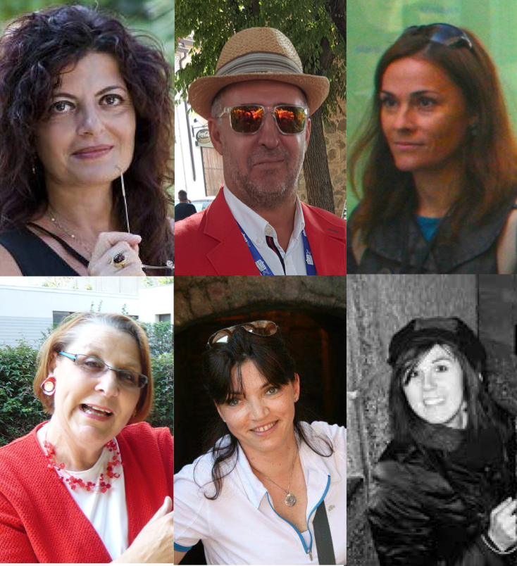 Top L - R Laura,Siracusa (Unspoiled Sicily), Mario, Toledo (Spain & Portugal In Castles and Palaces), Patricia, Leon (Ancient Kingdoms of Spain & Portugal)  Bottom L - R Ghislaine,Paris (Country Roads France), Katia, Verona (Classic Italy Coast to Coast), Monica, Pisa (Italy & France at Leisure)