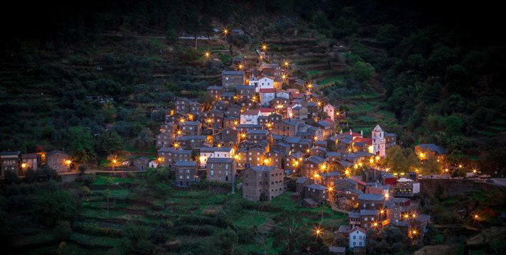 Piodao Village by night - Acor Mountains - Portugal