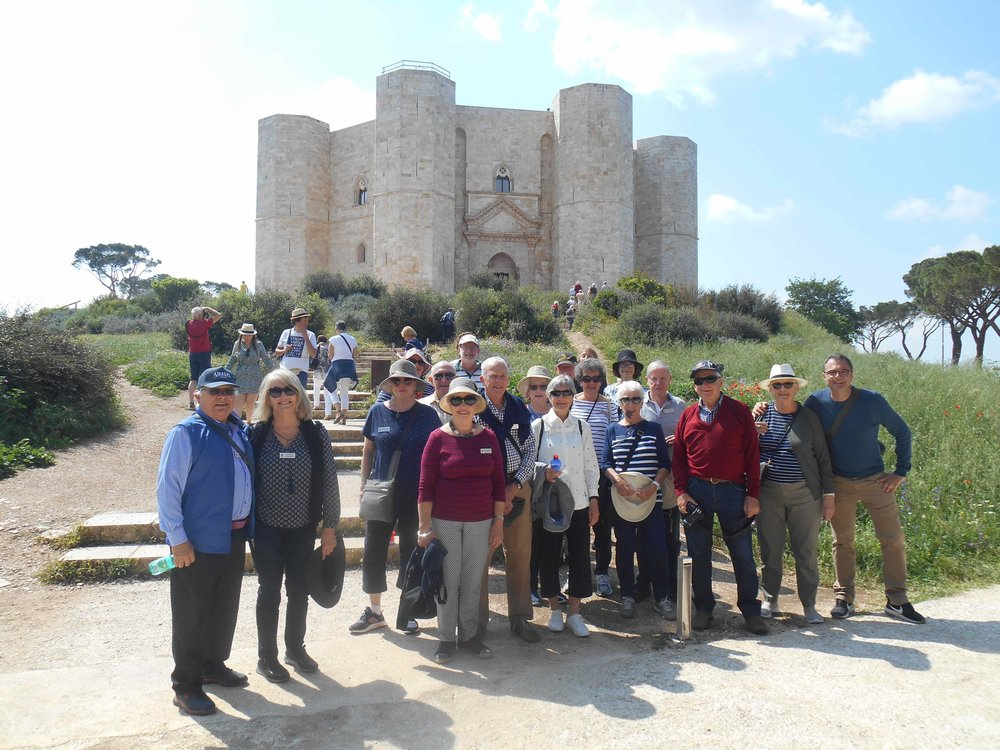 May 2018 'Unspoiled Sicily & Southern Italy' group visiting Castle del Monte en route to Puglia