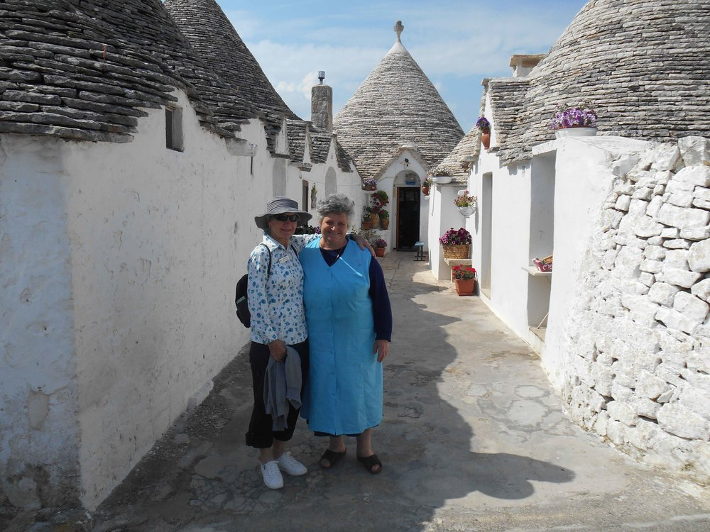 Meeting the locals in Alberobello - home of the Trulli houses