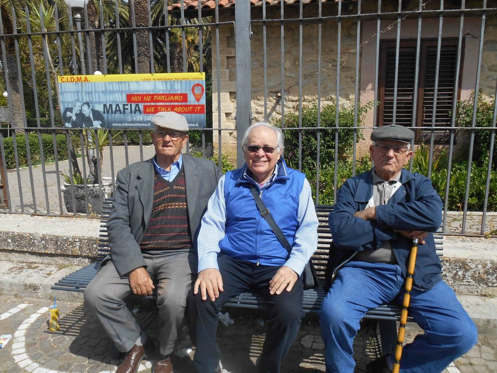 Who is the odd man out - chilling with the locals