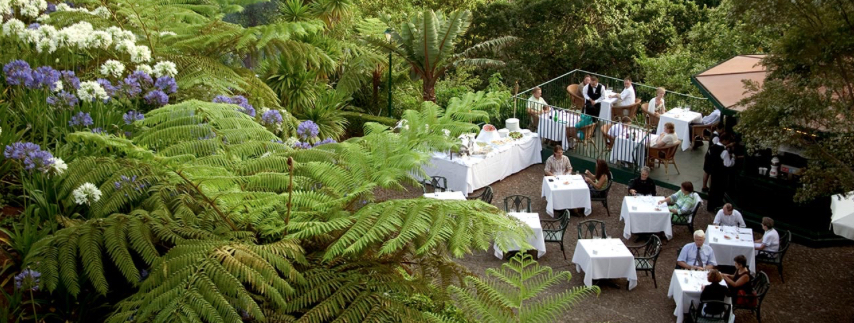 The mild climate in Madeira offers ample opportunity for al fresco dining