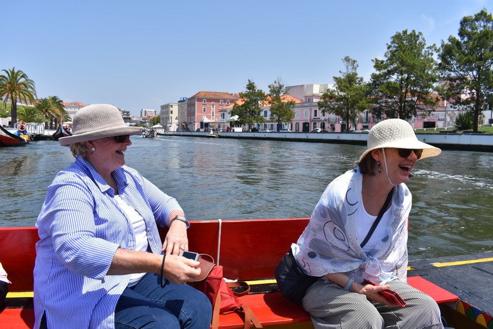 Perfect day on the water with traditional Moliceiros boats