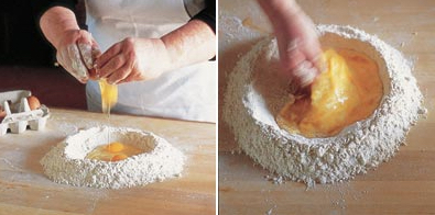 Use your hands to bring the dough together