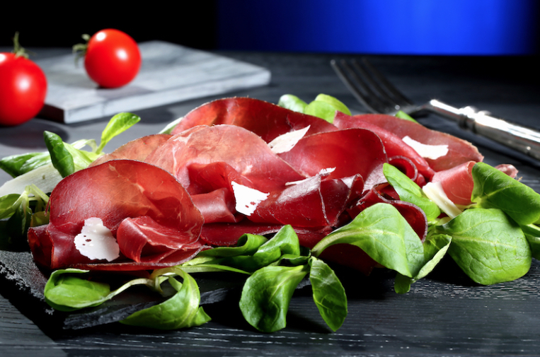 Bresaola, arugula and parmesan cheese - classic combination