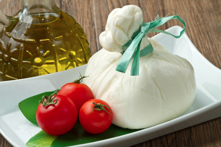 Burrata, a special cheese typical of Puglia