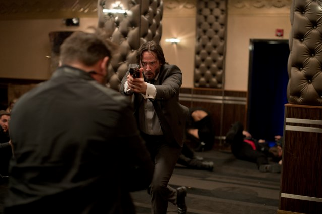 John Wick  Keanu Reeves goes on a rampage because some dicks killed his dog. Fucking awesome.