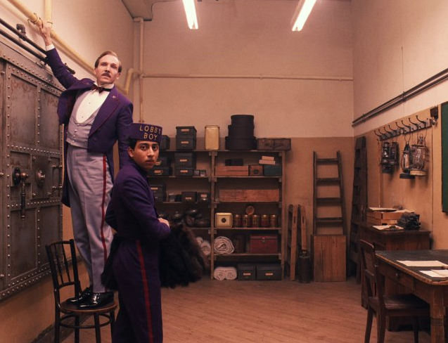 The Grand Budapest Hotel  Wes Anderson's most Wes Anderson-y film to date. A perfectly delightful story, told delightfully.