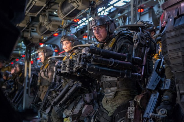 Edge of Tomorrow  The ultimate video game movie. Smart, thrilling, fun, and badass. Tom Cruise kicks ass.