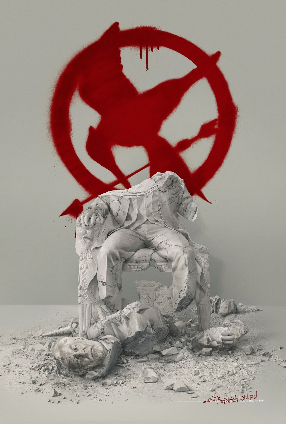 Striking teaser posters for Mockingjay Part 2. I love the toppled Snow statue here, and the character teasers, if you can even call them that, take an interesting approach. I doubt they would work by themselves, but the concept flourishes when displayed together.