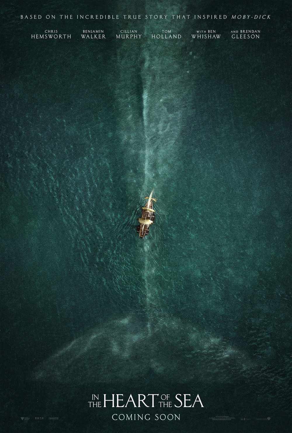 WOWZERS. This is how you make a teaser poster. The scale of the action happening here reminds me of last year's favorite, Godzilla. Our human protagonists are minuscule compared to the threat looming beneath the water that surrounds them on all sides. Safety not guaranteed.