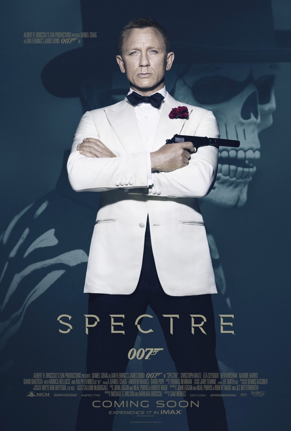 COME ON. This is Stock Photography James Bond standing with his arms folded in front of a still from the movie of James Bond wearing a mask, which only has any significance in the first (and best) 10 minutes of the film. Bad.