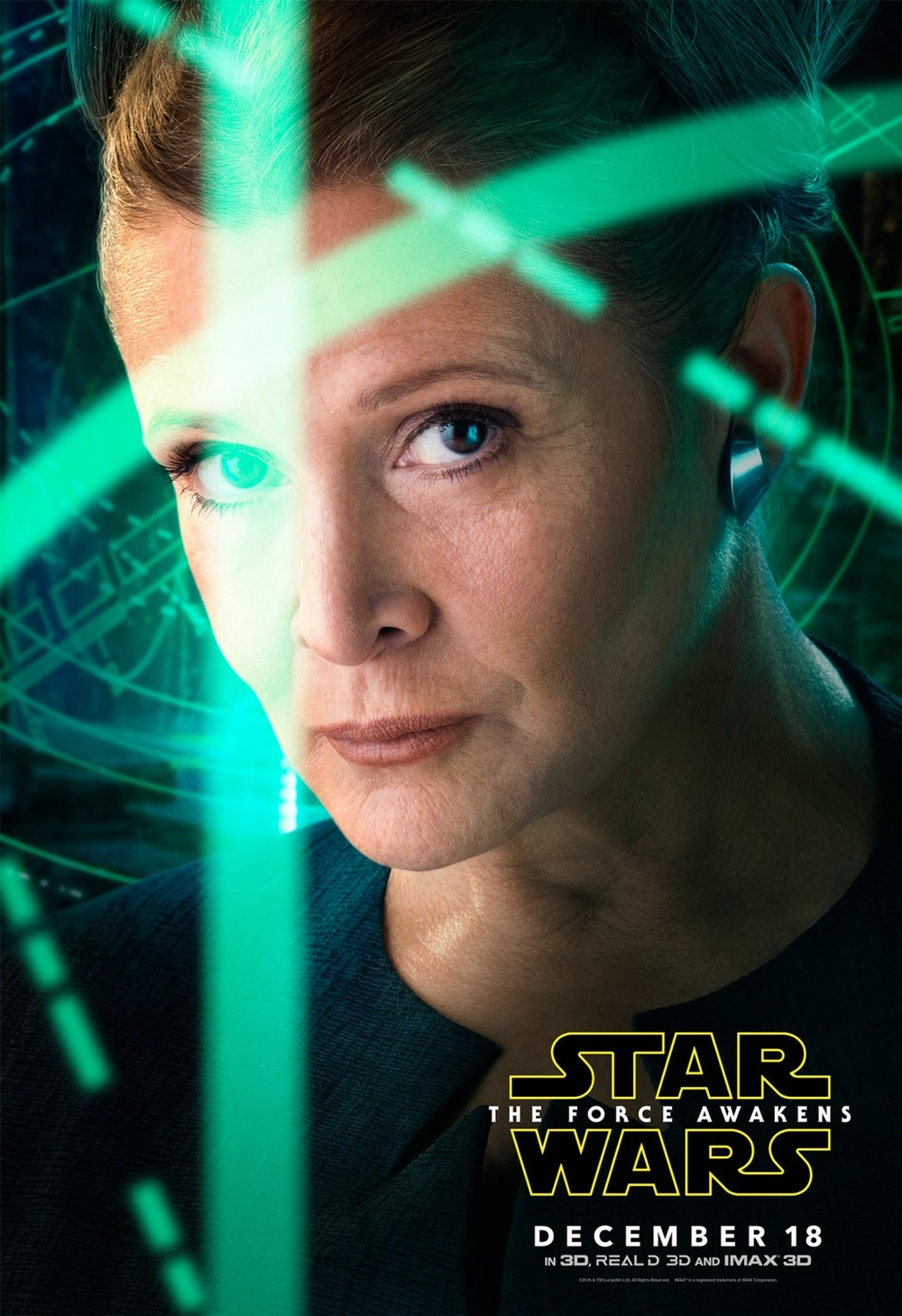 "These Episode VII character posters aren't bad enough to be considered among the worst of the year, but I really don't like them and felt the need to comment because they're so prolific. The ""thing over the eye"" gimmick doesn't really work for me, especially for Leia who looks like she's out of a mid-2000's sci-fi show on the CW. Her poster is the worst of the lot, and while the rest aren't necessarily bad, I feel like given all the other triumphs of this marketing campaign, these character teasers were a completely blown opportunity. They look like the kind of poster you might see near the registers at Wal-Mart, or on the front of a trapper keeper."