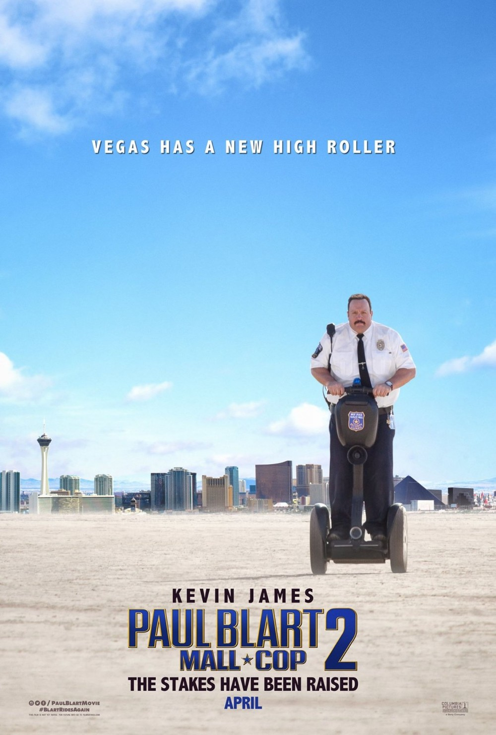 This one is barely even better. Why is he segwaying AWAY from Vegas? What are they trying to say with this poster? I assume he's the high roller because he's literally rolling on a thing, but he's rolling in the opposite direction from where we were just told a high roller was going to be. What am I to assume, that there's someone else rolling higher than him, and that he's rolling away from this challenge? What a shithead. I don't want to see a film starring someone as cowardly as that.