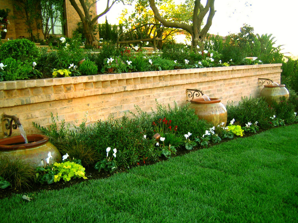 Awesome Flower Bed Retaining Wall Ideas Crest - Wall Art Design ...