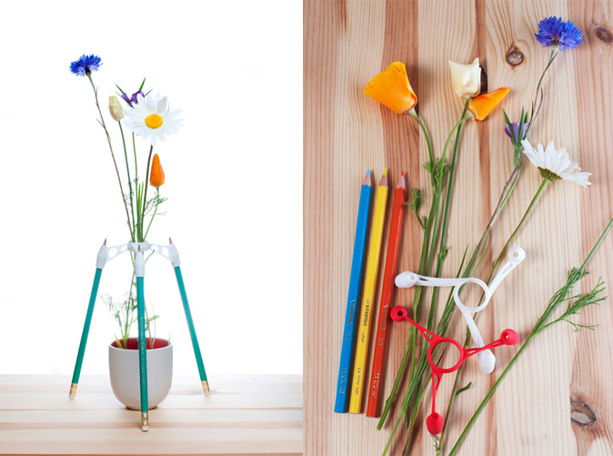 Pencil Vase by aleksandar on Shapeways.