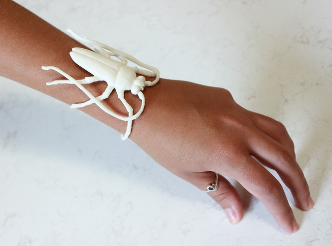 Insect Bracelet by paralogical on Shapeways.