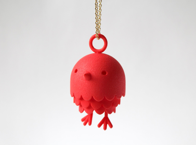 Peep Bird Pendant by rustylab on Shapeways