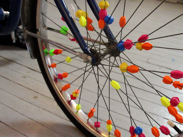 Bicycle Spoke Beads by JonMonaghan on Thingiverse.