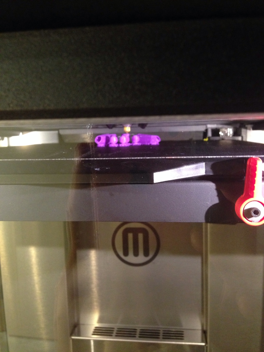 Printing on the Makerbot Z18.
