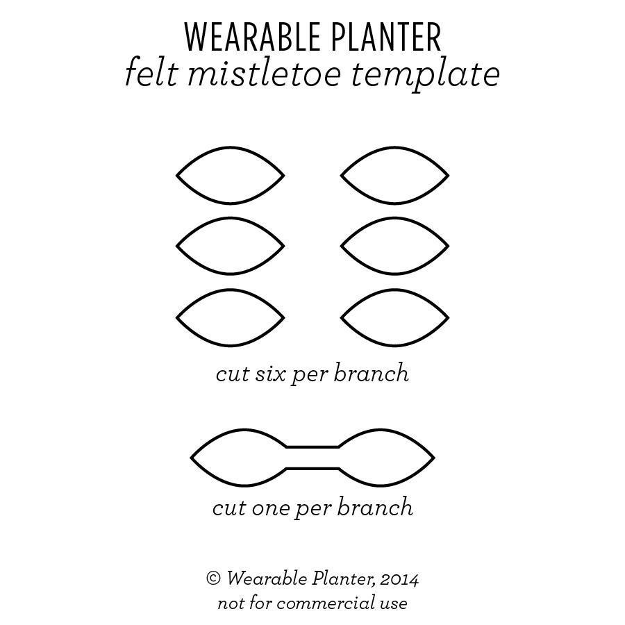 make your own felt mistletoe wearable planter