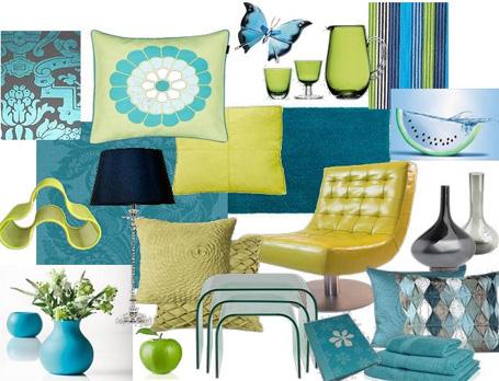 trend combining blue turquoise interior designer
