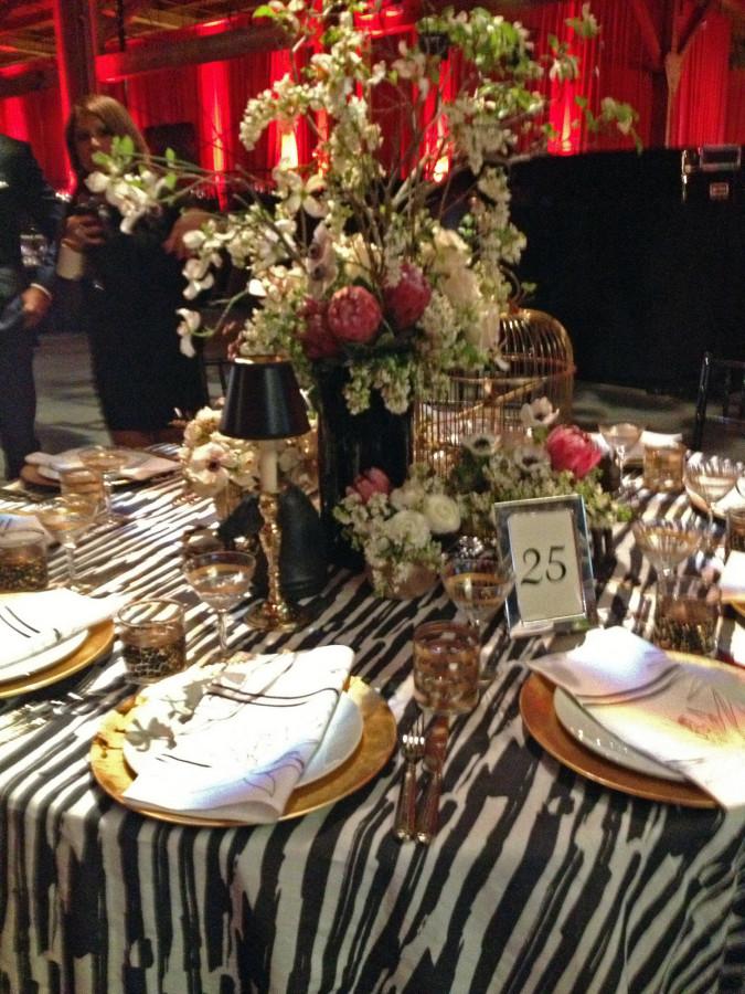 Zebra table cloth-1