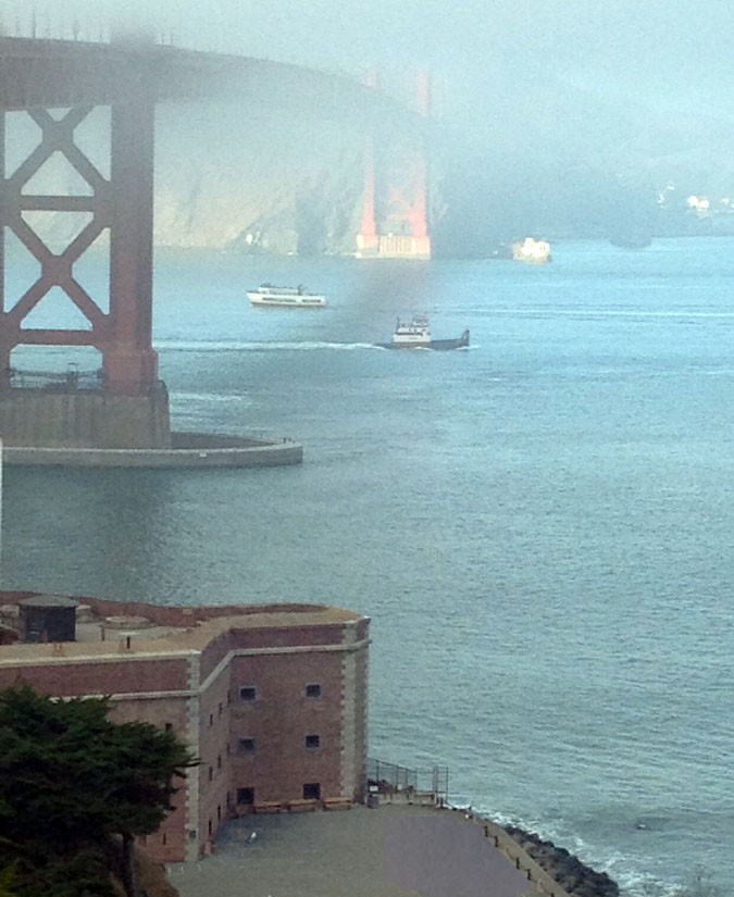 Fort Point lies under the Golden Gate Bridge and has quite a history all its own.
