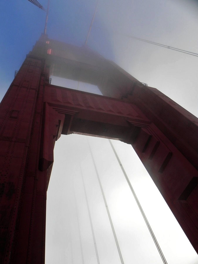 A Tower of the Golden Gate Bridge